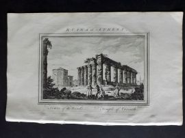 Fenning & Collyer 1765 Antique Print. Ruins at Athens - Temple of Corinth. Greece